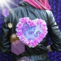 Pastel Goth Leather Jacket