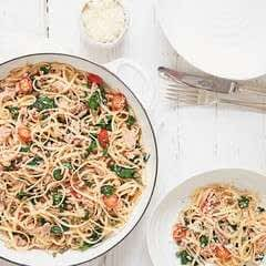 Tuna And Spinach Linguine