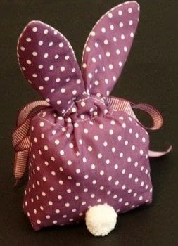 Easter bunny bag .  Make an Easter basket in under 90 minutes by needleworking, hand sewing, and machine sewing with felt, ribbons, and fabrics. Inspired by rabbits, easter eggs, and easter. Creation posted by sian d.  in the Sewing section Difficulty: 3/5. Cost: Cheap.