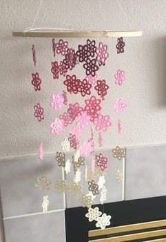 Add some color to your home by creating your very own wildflower chandelier! .  Free tutorial with pictures on how to make a chandelier in under 120 minutes using string, cardstock, and vellum paper. How To posted by Mandy K.  in the Other section Difficulty: Simple. Cost: 3/5. Steps: 9