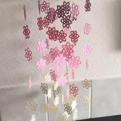 Paper Wildflower Chandelier