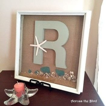 Thrift Store Find Makeover for Coastal Decor .  Free tutorial with pictures on how to make a shadow box in under 60 minutes by decorating with shadow box, sand, and pebbles. Inspired by nautical. How To posted by AcrosstheBlvd.  in the Other section Difficulty: Easy. Cost: Cheap. Steps: 8