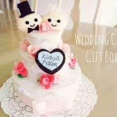 Felt Wedding Cake Gift Box