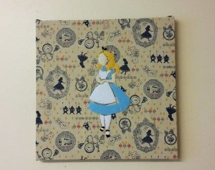Felt & Fabric Wall Decor .  Free tutorial with pictures on how to make a hanging in under 120 minutes by hand sewing with felt, sewing kit, and felt. Inspired by alice in wonderland and alice. How To posted by Caz.  in the Needlework section Difficulty: 3/5. Cost: 3/5. Steps: 3