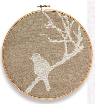Cross-Stitch to Calm .  Free tutorial with pictures on how to cross stitch art in under 180 minutes by cross stitching with aida cloth and embroidery floss. Inspired by birds. How To posted by FW Media.  in the Needlework section Difficulty: Simple. Cost: Cheap. Steps: 1