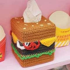 Cheeseburger Tissue Box Cozy