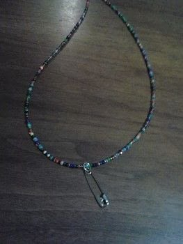 Rock on! .  Make a beaded necklace in under 15 minutes using tools, wire, and beads. Inspired by punk. Creation posted by Ashley P.  in the Jewelry section Difficulty: Easy. Cost: Absolutley free.