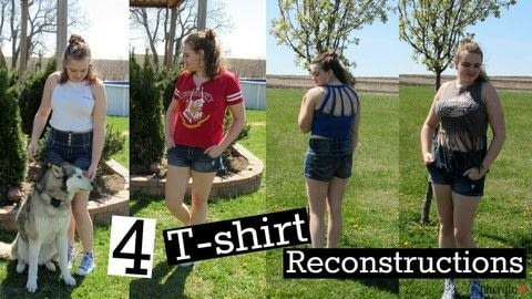 Revamp your wardrobe for free! .  Free tutorial with pictures on how to make a revamped t-shirt in under 15 minutes using fabric scissors and shirt. How To posted by Cheryl .  in the Home + DIY section Difficulty: Easy. Cost: No cost. Steps: 1