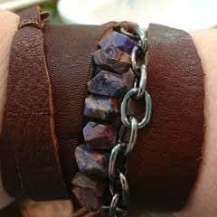 Leather Scrap Wrap Bracelet