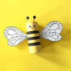 Bumblebee Toilet Tube Craft Printable