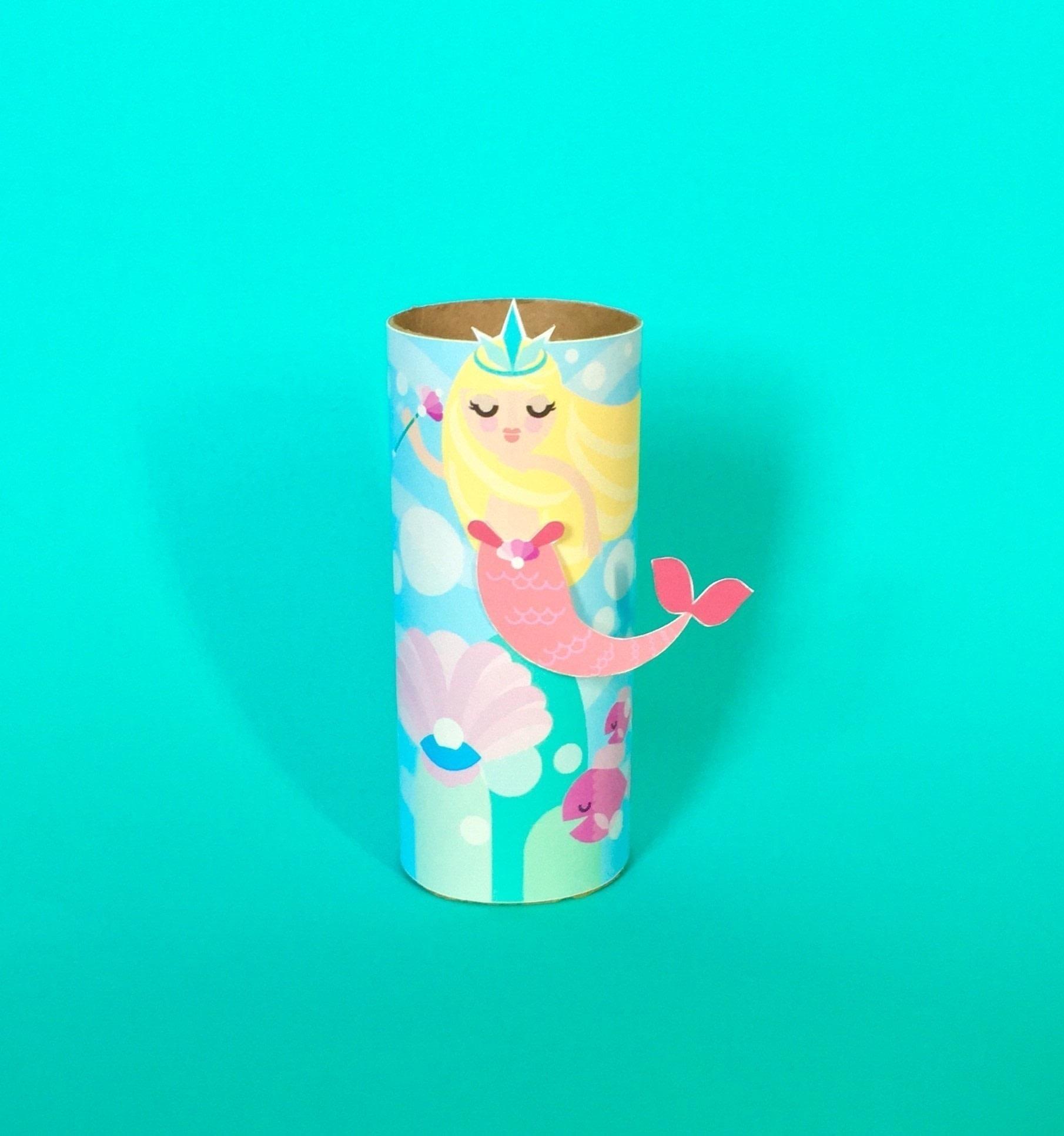 Mermaid Toilet Tube Craft Printable How To Make A Paper