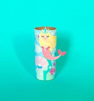 Mermaid Tube Craft .  Free tutorial with pictures on how to make a paper roll model in under 20 minutes using scissors, glue, and tape. Inspired by mermaid. How To posted by John L.  in the Papercraft section Difficulty: Easy. Cost: No cost. Steps: 3