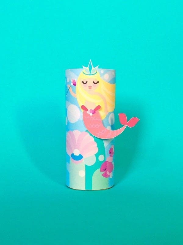 Mermaid Toilet Tube Craft Printable 183 How To Make A Paper