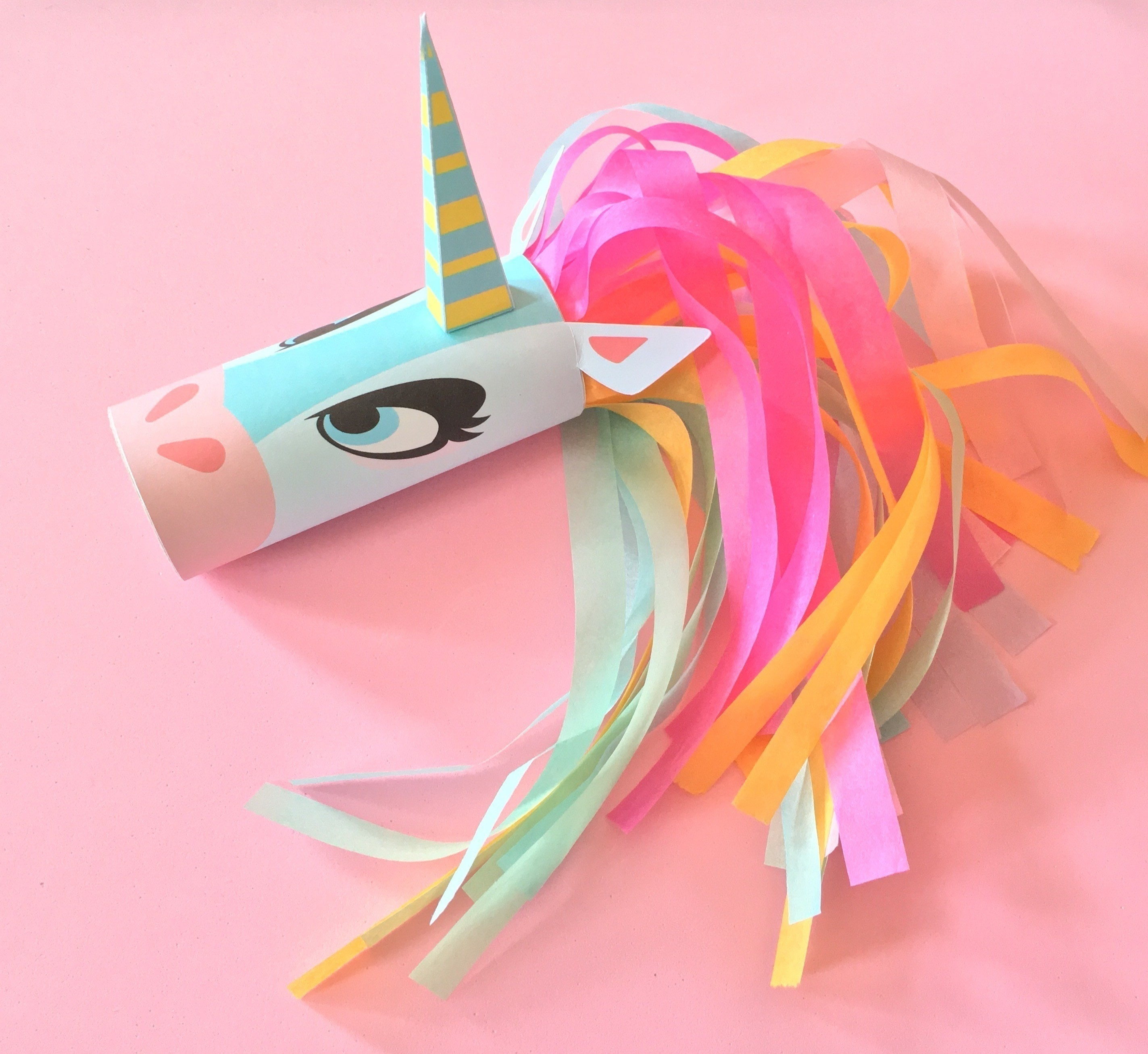 Unicorn Head Toilet Tube Craft Printable How To Make A Paper Roll