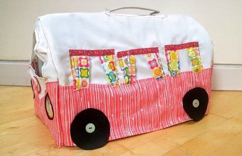 Carry your kitty in style with a retro campervan cat carrier! .  Free tutorial with pictures on how to make a pet accessory in 33 steps by sewing with cat carrier, fabric, and fabric. How To posted by Cat Morley.  in the Sewing section Difficulty: 3/5. Cost: Cheap.