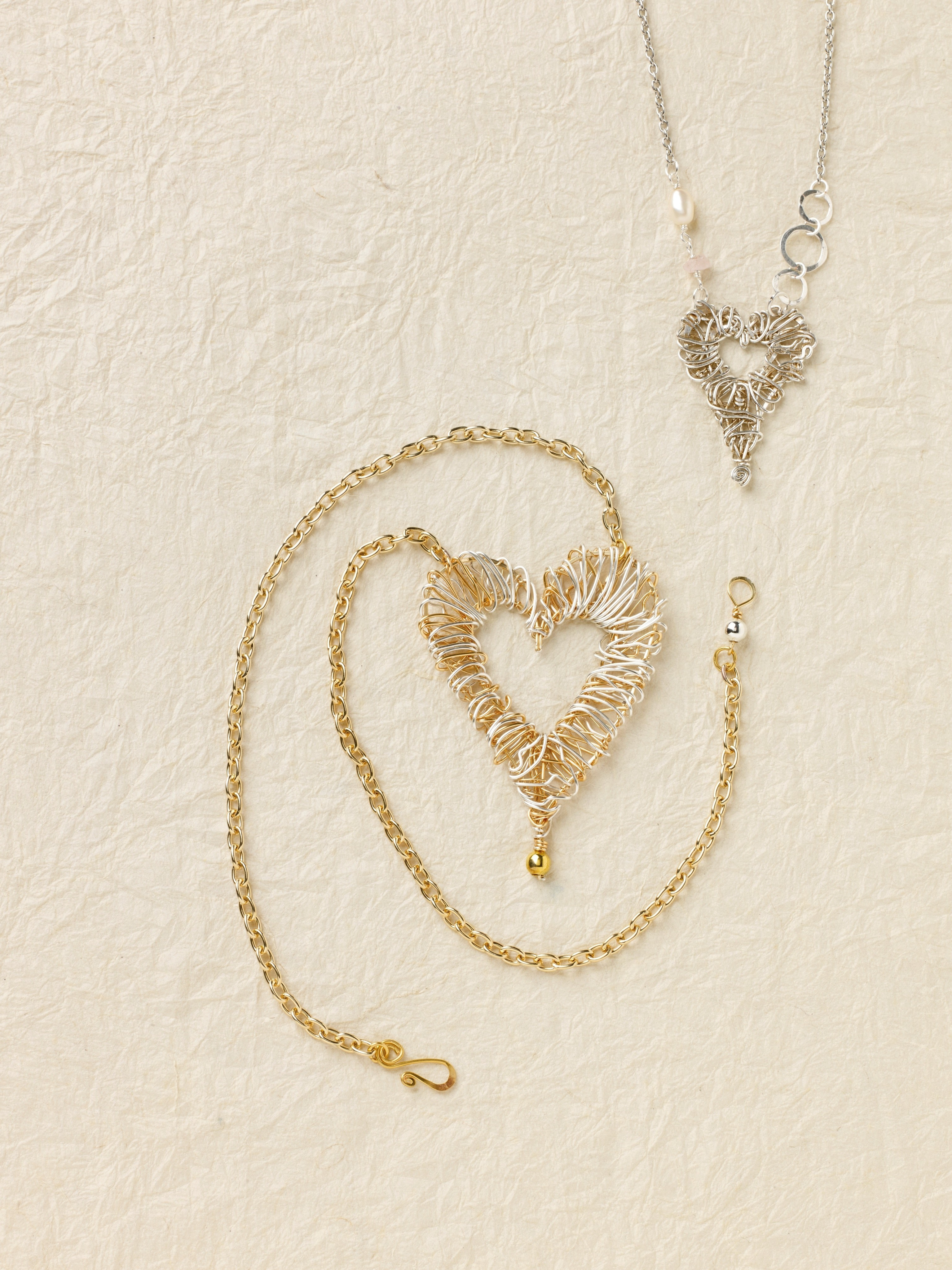 Solid Heart Pendant · Extract from How to Make Hammered Wire ...