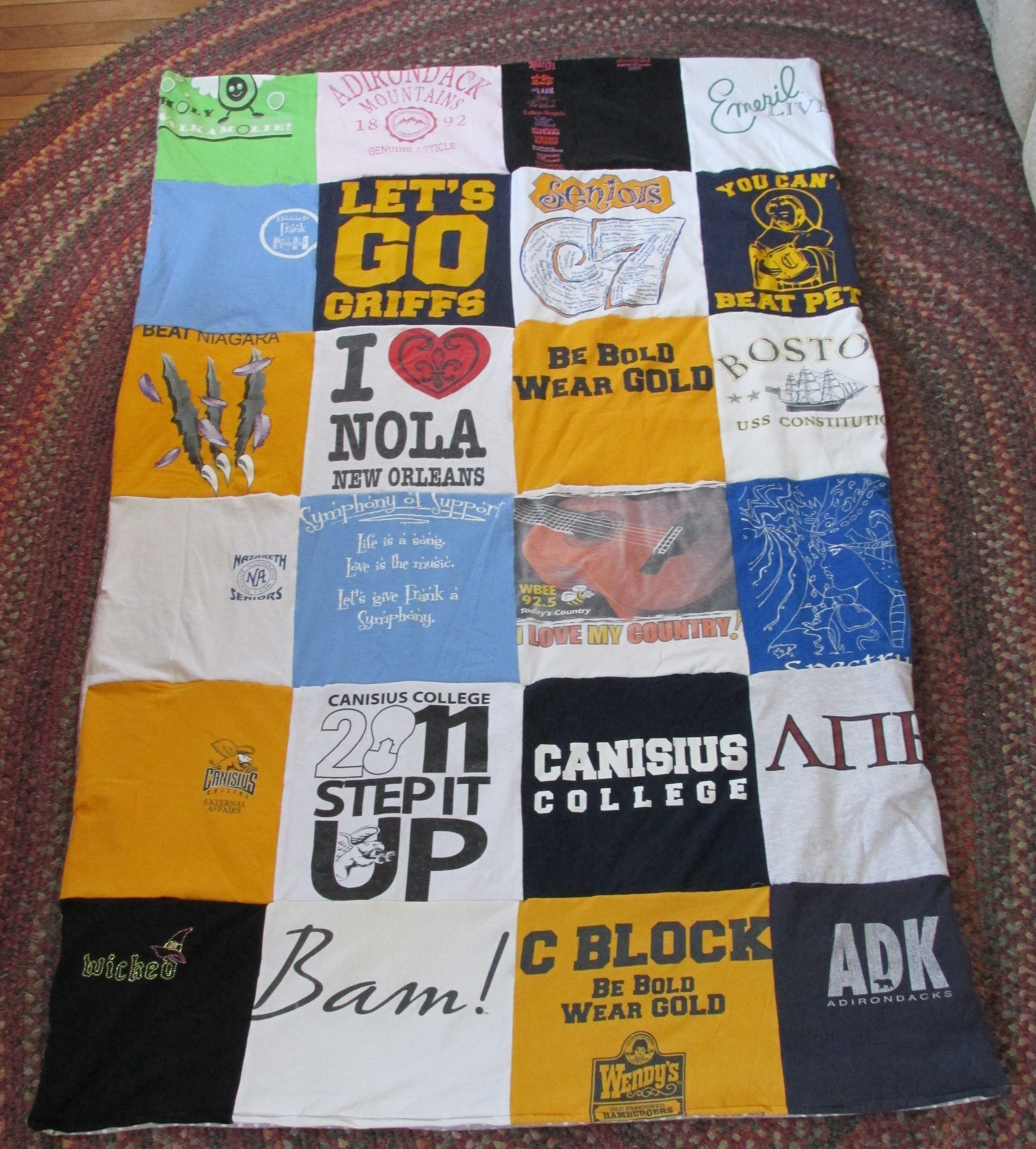 How To Make A T Shirt Quilt How To Recycle A T Shirt Quilt