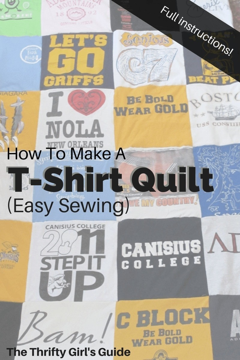 How to make a t shirt quilt how to recycle a t shirt for How to make t shirt quilts easy