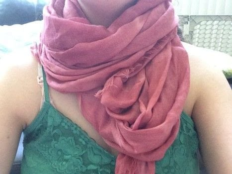 Brighten up a scarf for fall!  .  Free tutorial with pictures on how to make a novelty scarf in under 120 minutes by dyeing with scarf, rit dye, and pots. How To posted by moonofsilver.  in the Home + DIY section Difficulty: Easy. Cost: Absolutley free. Steps: 5