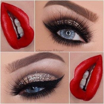 How to cut crease with ease!! Great for prom! .  Free tutorial with pictures on how to create a cut crease eye makeup look in under 15 minutes by applying makeup with glitter. How To posted by Champagne Whisper.  in the Beauty section Difficulty: 4/5. Cost: No cost. Steps: 1