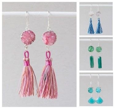 Make some Simple Drop Earring with Cherry Tree Beads .  Free tutorial with pictures on how to make a dangle earring in under 25 minutes by jewelrymaking with tassel(s), links, and jump rings. How To posted by Shop Showcase.  in the Jewelry section Difficulty: Simple. Cost: Cheap. Steps: 5
