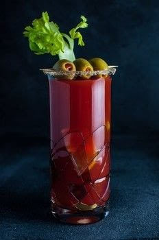 Canada's caesar cocktail is a tasty blend of vodka, Clamato juice, Worcestershire sauce, lime, and Tabasco sauce. If you like bloody marys, you may want to try this!  .  Free tutorial with pictures on how to mix a Bloody Mary in under 10 minutes by mixing drinks with ice, juice, and vodka. Inspired by canadian. Recipe posted by saltandlavender.  in the Recipes section Difficulty: Easy. Cost: 3/5. Steps: 1