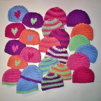 Preemie hats .  Make a baby hat in under 10 minutes using yarn and crochet hook. Creation posted by Carol S.  in the Yarncraft section Difficulty: Easy. Cost: Absolutley free.