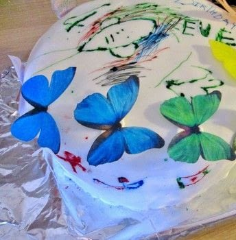 An edible canvas makes the perfect collaborative project.  .  Bake a decorative cake in under 45 minutes by decorating food with cake mix, fondant, and edible markers. Inspired by parties, food, and cake. Creation posted by Ruth O.  in the Recipes section Difficulty: Simple. Cost: 3/5.
