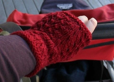 Ever After by Maree Buscke .  Free tutorial with pictures on how to make fingerless gloves in under 180 minutes by knitting with knitting needles, yarn, and yarn needle. How To posted by Shop Showcase.  in the Yarncraft section Difficulty: Simple. Cost: Cheap. Steps: 3