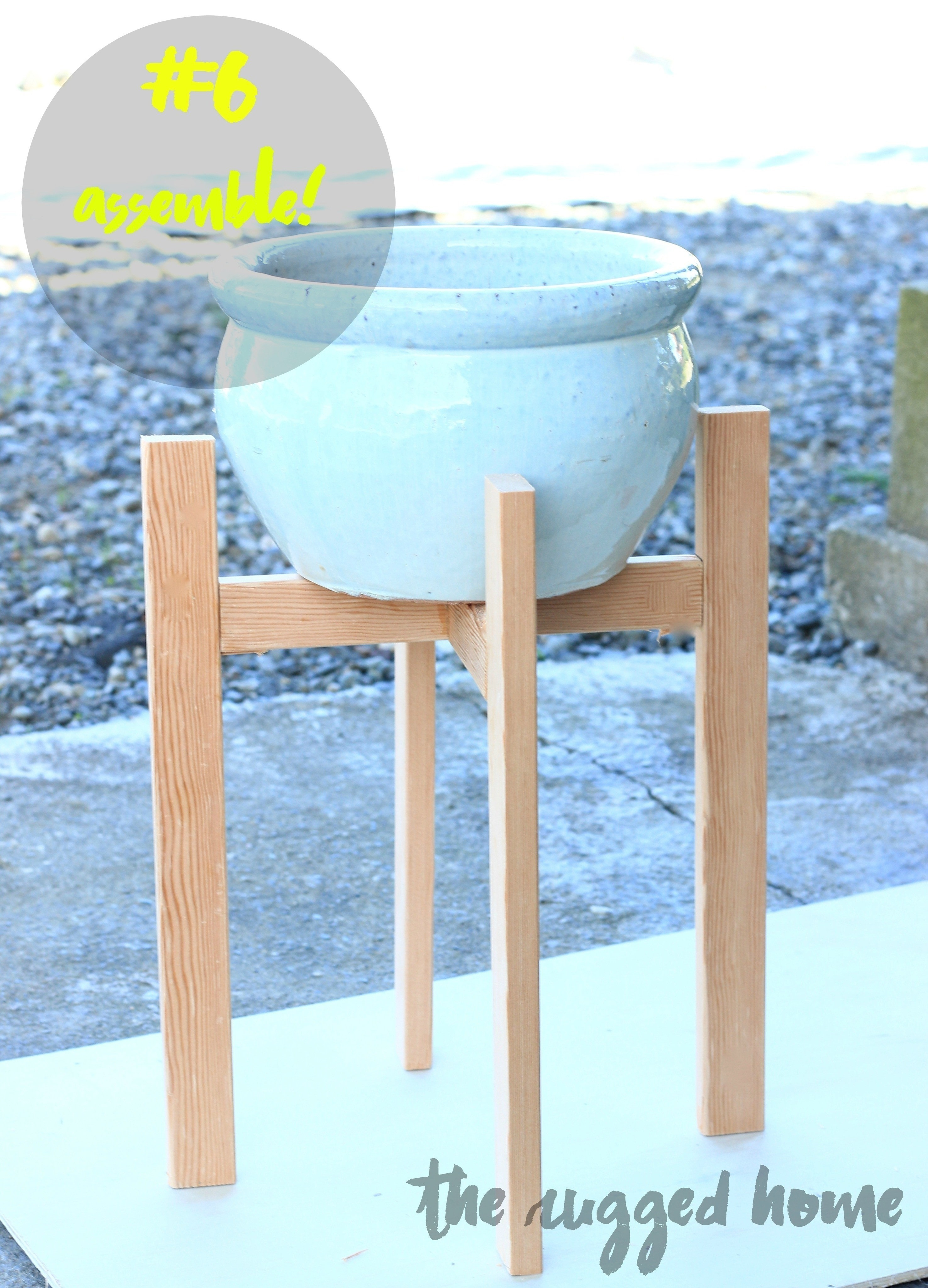 West Elm Inspired Plant Stand 183 How To Make A Vase Pot Or