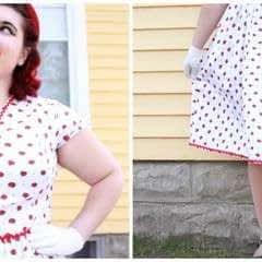 Retro Strawberry Dress
