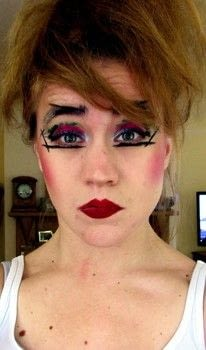 A creative, punky, colourful look inspired by the Godmother of Punk Nina Hagen. .  Free tutorial with pictures on how to create a dramatic eye makeup look in under 20 minutes by applying makeup with eyeliner. Inspired by punk. How To posted by Leanashe23.  in the Beauty section Difficulty: Easy. Cost: 3/5. Steps: 11