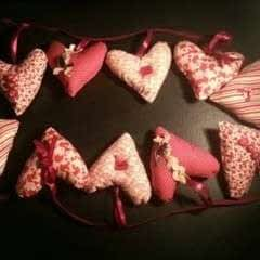 Padded Heart Bunting