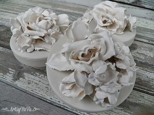 Plaster Of Paris Flowers 183 How To Mold A Clay Flower