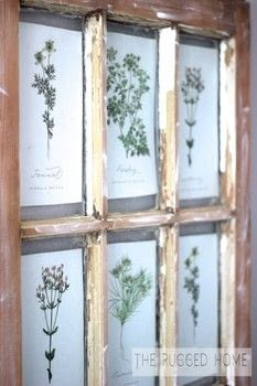 Salvaged Barn Window Art With Free Printables .  Make wall decor in under 70 minutes using window and printables. Creation posted by Jessica-Sara M.  in the Home + DIY section Difficulty: Easy. Cost: Absolutley free.