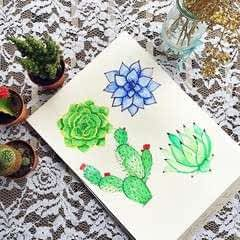 Watercolor Succulent Tutorial