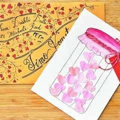 Jar Of Hearts Handmade Card Tutorial