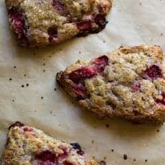 Strawberries And Cream Oat Scones