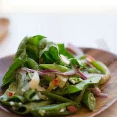 Snap Pea, Feta And Chili Salad