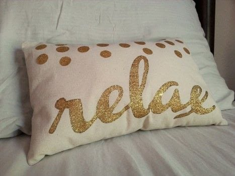 Cute, glittery, & relaxing..  .  Make an embellished cushion by decorating, transfering, sewing, and machine sewing with canvas fabric, computer, and scissors. Creation posted by gypsie_jay.  in the Sewing section Difficulty: Simple. Cost: Cheap.