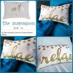 """""""Relax"""" Glitter Decorative Pillow"""