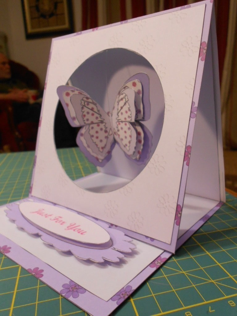 Butterfly Hanging Easel Card 183 How To Make A Greetings Card 183 Papercraft On Cut Out Keep