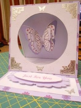 A 3 Dimensional Greeting Card with a Hanging Butterfly .  Free tutorial with pictures on how to make a greetings card in under 45 minutes by cardmaking with computer, printer, and card. Inspired by butterflies. How To posted by Sheila R.  in the Papercraft section Difficulty: Easy. Cost: Absolutley free. Steps: 9