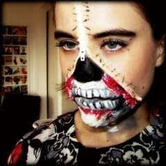 Zipper Face Inspired Make Up Tutorial