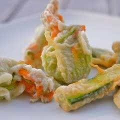 Herb Ricotta Stuffed Zucchini Flowers