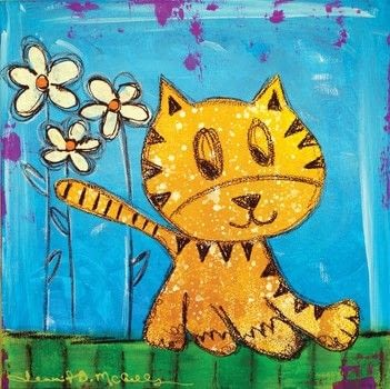 ARTrageous! .  Free tutorial with pictures on how to draw & paint a piece of animal art in under 25 minutes by creating with canvas, acrylic paint, and paintbrushes. Inspired by cats. How To posted by Creative Publishing international.  in the Art section Difficulty: Simple. Cost: Cheap. Steps: 8
