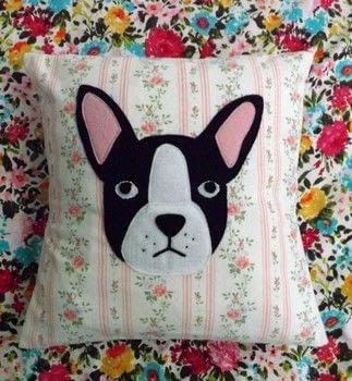 Doggy Decor .  Make a cushion in under 60 minutes by machine sewing with fabric, felt, and cushion inner. Inspired by dogs. Creation posted by PixieFey.  in the Sewing section Difficulty: Easy. Cost: Absolutley free.