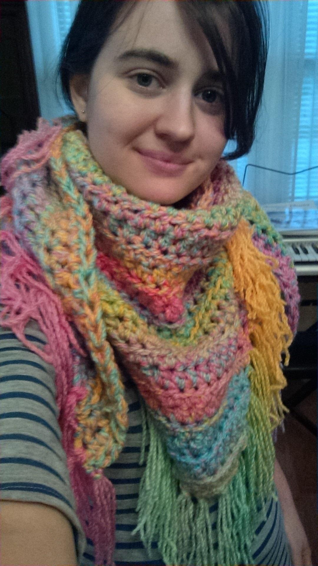 Rainbow Triangle Scarf How To Make A Knit Scarf Crochet Scarf