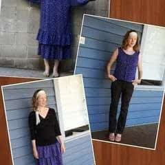 Ruffle Skirt From A Thrifted Dress