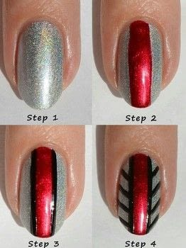 Black Widow on your nails!  .  Free tutorial with pictures on how to paint a stripy nail in under 40 minutes by nail painting with nail polish, nail art striper brush, and topcoat. Inspired by spiders and black widow. How To posted by Theodora C. R.  in the Beauty section Difficulty: 3/5. Cost: Absolutley free. Steps: 4